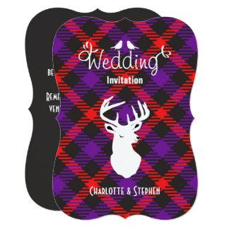 Cartão Roteiro principal dos veados escoceses da xadrez