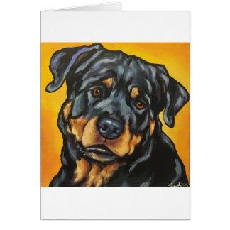 Cartão Rottweiler doce