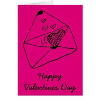 Cartão Rotule com estilo romântico do amor |