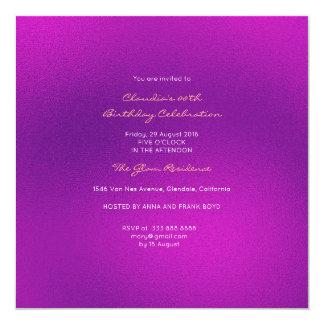 Cartão Roxo Amethyst cor-de-rosa brilhante de vidro