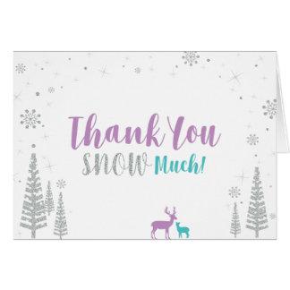 Cartão Roxo, cerceta & prata: Obrigado do aniversário do