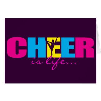 Cartão Roxo Cheerleading personalizado do elogio