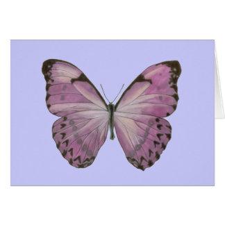 Cartão roxo da borboleta
