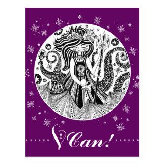 Cartão roxo da bruxa   do mar do pão-de-espécie