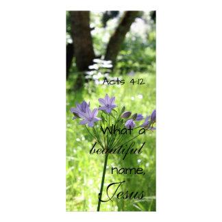 Cartão roxo da cremalheira do Wildflower 10.16 X 22.86cm Panfleto