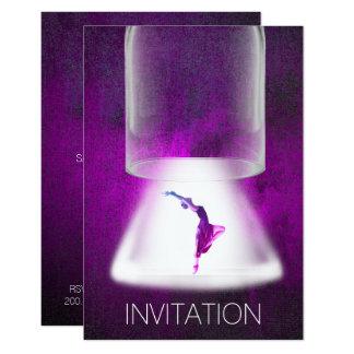 Cartão Roxo da dança do balé do concerto do festival do