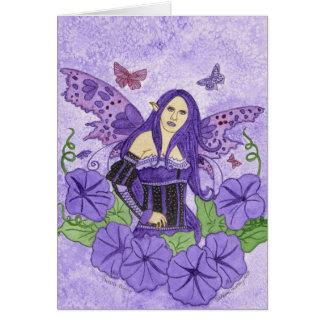 Cartão roxo da glória