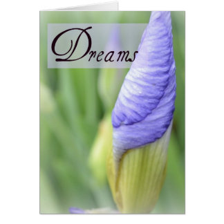 Cartão roxo da íris dos sonhos