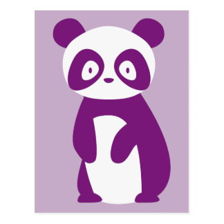 Cartão roxo da panda