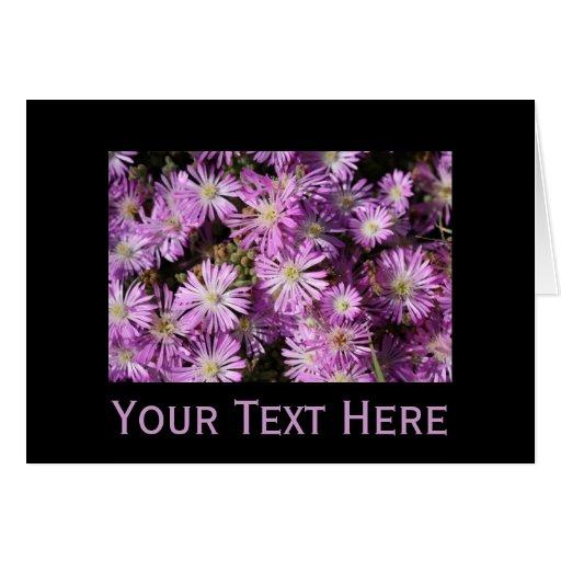 Cartão roxo das flores - customizável