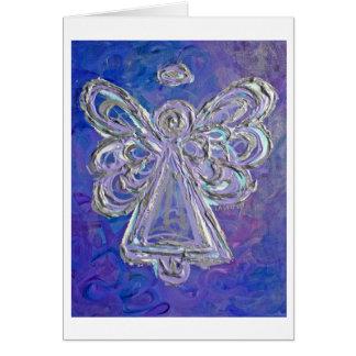 Cartão roxo do anjo