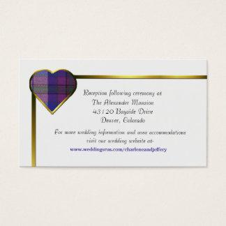 Cartão roxo do cerco do casamento do coração da