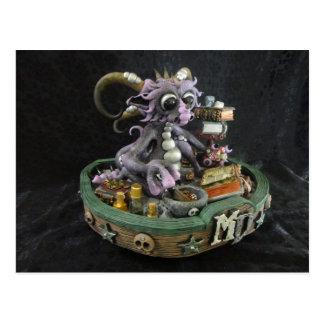 Cartão roxo do dragão da DM