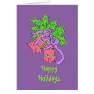 Cartão roxo do feriado