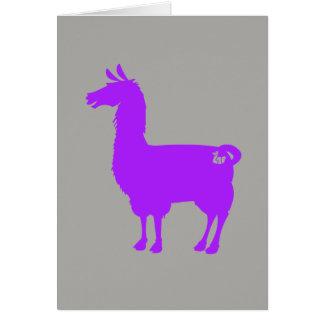 Cartão roxo do lama