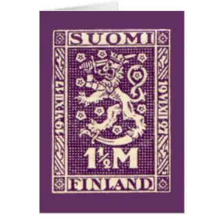 Cartão roxo do leão de Finlandia, SUOMI