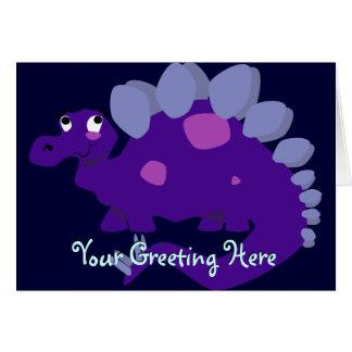 Cartão roxo do Stegosaurus
