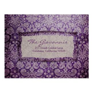 Cartão roxo do vintage RSVP do êxtase do GC |