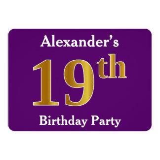 Cartão Roxo, festa de aniversário do ouro do falso 19a;