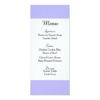 Cartão roxo macio do menu do casamento convite 10.16 x 23.49cm