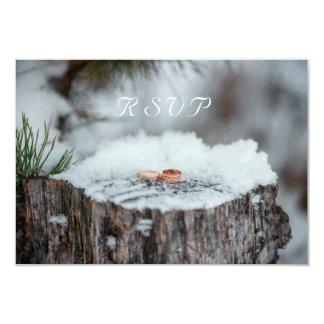 Cartão RSVP--Casamento no inverno