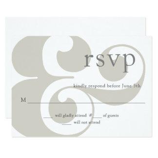 Cartão RSVP - design moderno do ampersand
