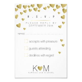 Cartão rsvp elegante, casamento romântico da resposta do