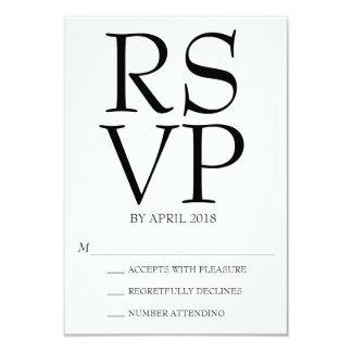 Cartão RSVP moderno