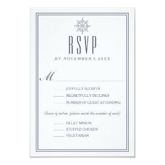 Cartão RSVP Wedding náutico 2