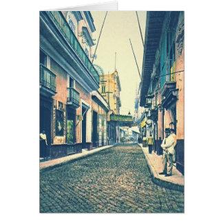 Cartão Rua Cuba 1899 de Havana