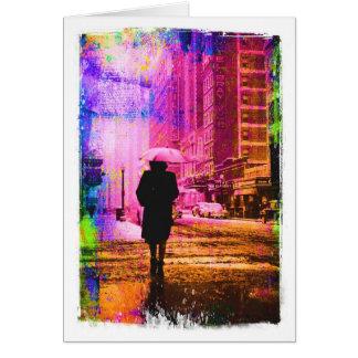 Cartão Rua de Kansas City W. 12o, beira colorida do