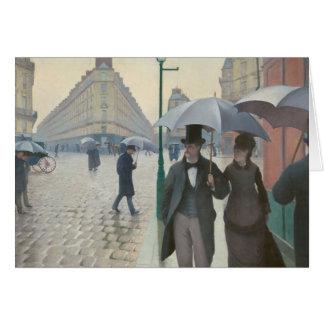 Cartão Rua de Paris; Dia chuvoso AKA Paris: Um dia