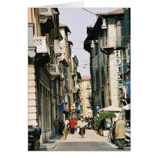 Cartão Rua em Verona