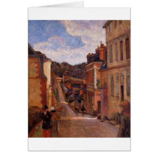 Cartão Rua Jouvenet, Rouen por Paul Gauguin
