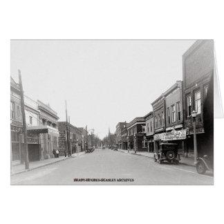Cartão Rua-McMinnville principal do leste Tennessee cerca