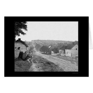 Cartão Rua principal em Sharpsburg, DM 1862