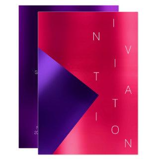 Cartão Rubi cor-de-rosa roxo metálico do evento da forma