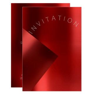 Cartão Rubi vermelho Monochrom do metal do evento da