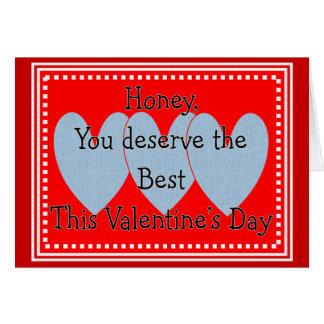 Cartão rude do dia dos namorados