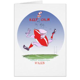Cartão rugby de galês, fernandes tony