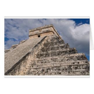 Cartão Ruína maia de Chichen Itza em México