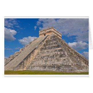 Cartão Ruínas de Chichen Itza em México