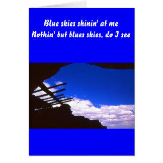 Cartão ruínas do povoado indígeno, arizona