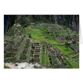 Cartão Ruínas em Machu Picchu