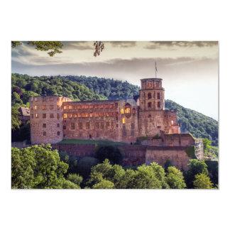 Cartão Ruínas famosas do castelo, Heidelberg, Alemanha