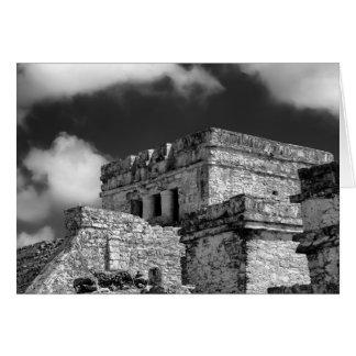 Cartão - ruínas maias - Tulum, México