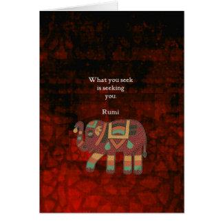 Cartão Rumi inspirado o que você procura citações