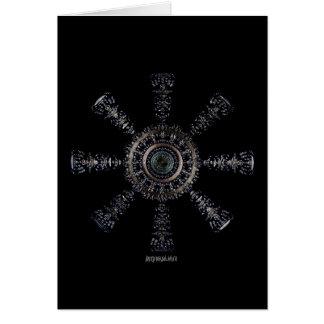 Cartão Rune☼ ancestral e espiritual do ☼Aegishjalmur -