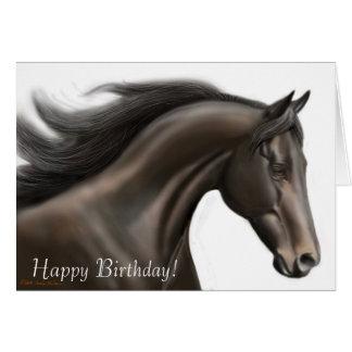 Cartão Running do cavalo do feliz aniversario