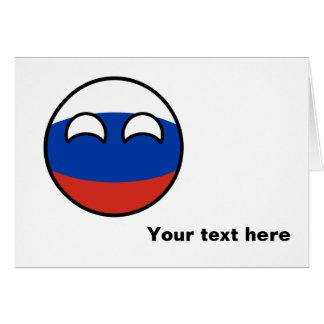 Cartão Rússia Geeky de tensão engraçada Countryball